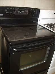 SALE - BLACK SMOOTH TOP STOVE $475 with WARRANTY - 9267-50 Street  - WHITE CERAMIC TOP STOVES FROM $375