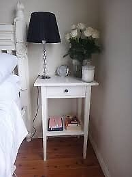 ikea hemnes white bedside table excellent condition with a drawer
