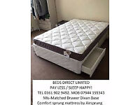 Silentnight Double Divan Bed with Drawers