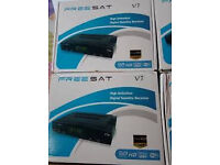10 x freesat v7 skybox OPENBOx wd wifi and with 13 mnth gift £70each but selling at 10 a piece