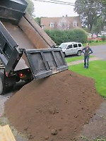 Delivery services.  5 yard loads . Gravel, Topsoil, Triple Mix,