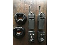 Set of Motorola CP040 Walkie Talkies