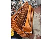 HEAVY DUTY PALLET RACKING SECOND HAND BEAMS 3 METRES IN LENGHT ORANGE EXCELLENT QUALITY
