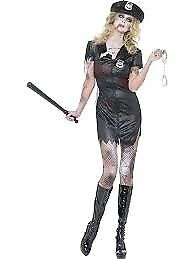 ZOMBIE WALKING DEAD AMERICAN POLICE WOMAN 16/18 GREAT FOR HALLOWEEN PARTY