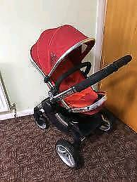 Icandy peach I candy travel system pram / buggy/ stroller / pushchair with raincover