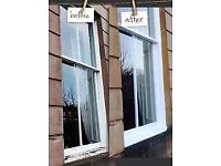 PAINTER EXTERIOR SASH AND CASE WINDOWS GUTTERS CHERRY PICKER HIRE