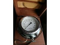 Gauges Bourbon Funky Huge test gauge,steam dial gauge , looks amazing,original wood case.