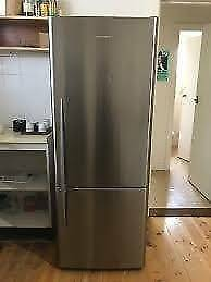 fisher and paykel 519 liter silver fridge