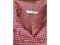 3 x 2-3 YRS red gingham school dresses, worn once or twice each VGC
