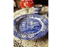 Spode Blue Italian 8 inch Side Plates Set of 4.. brand new
