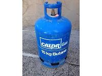 3 Gas Bottles, 15kg, 12kg calor gas & 13kg flo gas