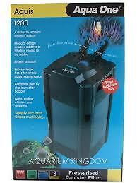 Aqua One Aquis Canister Filter 1200 model for Marine or Freshwater