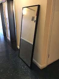 IKEA Stave Mirror black-brown 28x63