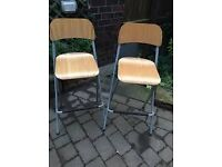 Pair of Franklin Ikea bar stools
