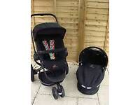 Quinny buzz curious colours travel system with footmuff