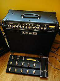 Line 6 Spider IV 75 Electric Guitar Amplifier and Longboard foot controller