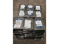 Bulk Hard Drives Any Size - 2TB, 1.5TB, 1TB, 750GB, 500GB, 250GB, 160GB