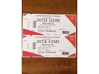 LESS THAN FACE VALUE Justin Bieber Tickets Cardiff Principality Stadium Friday 30/06/17 Beiber