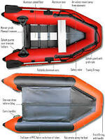 "Saturn inflatable 8.6"" boat for sale."
