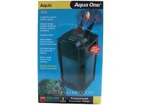 AQUA ONE AQUIS 700 EXTERNAL FILTER SYSTEM - NEW IN BOX - ONE ONLY
