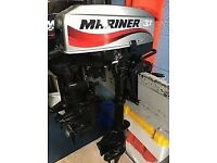 2007 MARINER 3.3HP 2 STROKE OUTBOARD MOTOR - COST £595.00 / PERFECT WORKING ORDER & CONDITION + DOCS