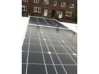 370w of new Solar Panels with cable and connectors van live aboard boat, yurt, tipi 12v / 24v