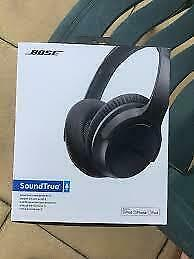 BOSE SOUND TRUE AROUND EAR HEADPHONES CHARCOAL BLACK FOR SAMSUMG BRAND NEW $175