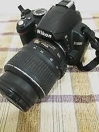 NIKON D3000 DSLR DIGITAL CAMERA WITH STANDARD LENS 18-55MM