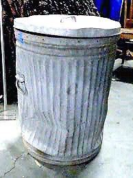 Wanted: metal garbage can. Cheap or free.