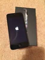 Black iPhone 5 (Unlocked), 32 GB, Like New in Box