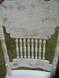"""Wanted: """"Ornate/Victorian/Shabby Chic style White Kitchen Chairs"""