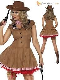 WILD WEST COWGIRL FANCY DRESS OUTFIT GREAT FOR CHRISTMAS / NEW YEARS [ARTY OR HEN DO SIZE 16/18