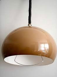Vintage Retro 1970u0027s Guzzini L& Rise u0026 Fall Pendant L& Orange Retro Ceiling Light Lighting & Vintage Retro 1970u0027s Guzzini Lamp Rise u0026 Fall Pendant Lamp Orange ...