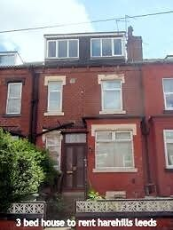 3 bed unfurnished house to rent Harehills