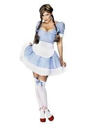 WIZARD OF OZ DOROTHY FANCY DRESS OUTFIT SIZE 16/18 GREAT FOR A PARTY OR HEN DO