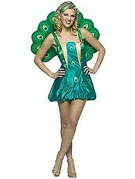 LADIES PEACOCK FANCY DRESS OUTFIT SIZE 10 /12 / 14 AS IT HAS LACE UP BACK