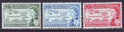 Trinidad & Tobago 1958 SC 86-88 MNH Set West Indies Federation