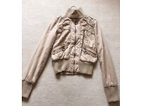 Cream waisted summer casual jacket