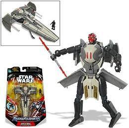2006 STAR WARS TRANSFORMER DARTH MAUL