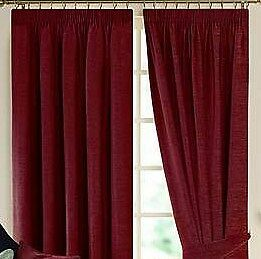 Dunelm Lyon Wine Lined Pencil Pleated Curtains 90 X 228x228cm