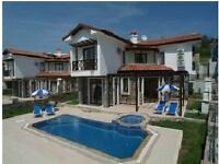 4 bedroomed detached villa with pool for quick sale fully furnished 20 minutes from Fethiye, Turkey