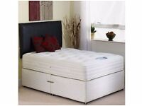 Brand New Double or Small Double Divan Bed Base + Deep Quilt Mattress