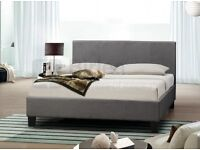 XMAS SALE DOUBLE HIGH QUALITY BED SAME AS PICTURE FAST DELIVERY BLACK OR GREY