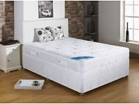BARGAIN COMPLETE QUALITY ORTHOPAEDIC BED WITH MATTRESS SINGLE DOUBLE KING