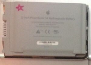 12 inch PowerBook G4 Rechargeable Battery Part number A1079