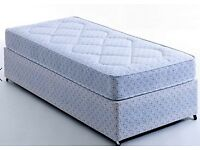 Brand new single divan bed and mattress