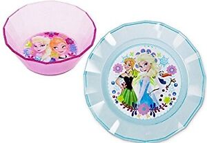 Elsa Anna Frozen Plate and Bowl Set