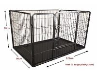 Heavy Duty Whelping Pen Pet Dog Crate Puppy Play Pen Enclosure Box Run Cage