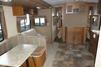 2015 Surveyor 294QBLE 33 foot Travel Trailer by Forest River