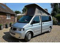 Volkswagen T5 4-berth pop top camper van SOLD